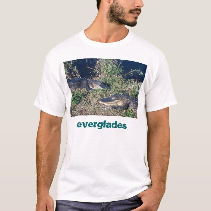 Alligators basking, Everglades National Park T-Shirt