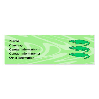Alligators. Double-Sided Mini Business Cards (Pack Of 20)