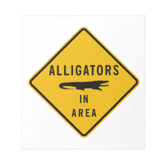 Alligators in Area, Louisiana, USA Notepad