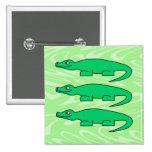 Alligators. Pins