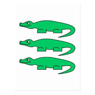 Alligators. Postcard