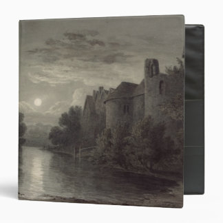 Allington Castle, near Maidstone, Kent; Moonlight 3 Ring Binder