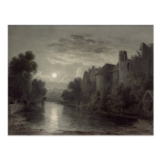 Allington Castle, near Maidstone, Kent; Moonlight Postcard