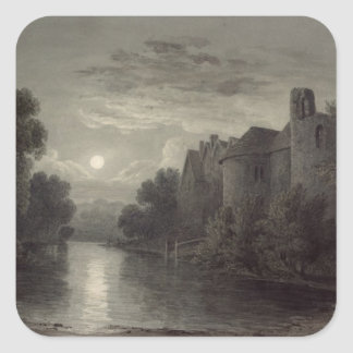 Allington Castle, near Maidstone, Kent; Moonlight Square Sticker