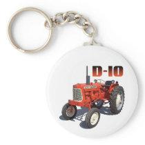Allis Chalmers D-10 Tractor Keychain