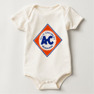 Allis Chalmers Tractor Vintage Hiking Duck Baby Bodysuit