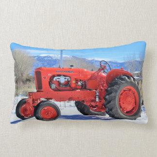 Allis Chalmers Tractor Winter Scene Lumbar Pillow