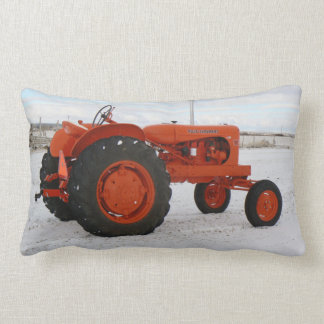 Allis Chalmers Tractor Winter Scene Lumbar Pillow