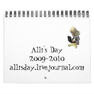 Alli's Day Mini Calendar 2009-2010