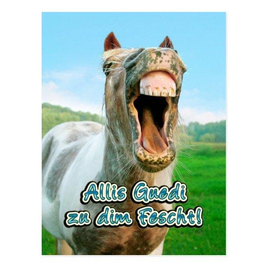 Allis Guedi too dim Fescht! Postcard