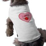 Allison (corazón) camisa de mascota