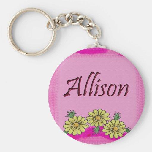 Allison Daisy Keychain