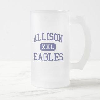 Allison Eagles Traditional Wichita Kansas Frosted Glass Beer Mug