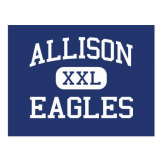 Allison Eagles Wichita tradicional Kansas Postal