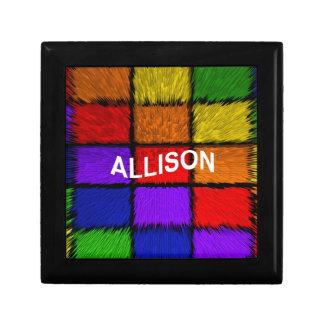 ALLISON ( female names ) Keepsake Box