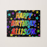 "[ Thumbnail: ""Allison"" First Name, Fun ""Happy Birthday"" Jigsaw Puzzle ]"