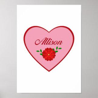 Allison heart print
