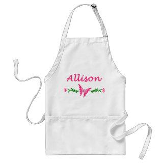 Allison (mariposa rosada) delantal