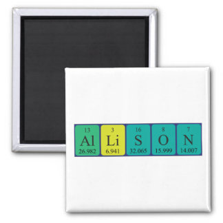 Allison periodic table name magnet