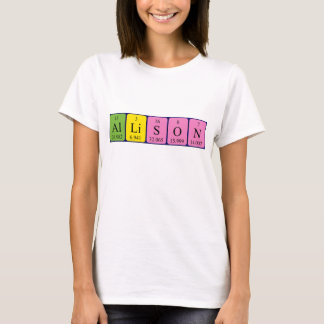 Allison periodic table name shirt