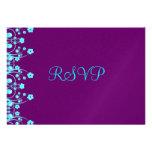 Allison Rachel Purple Turquoise RSVP Postcard Custom Invites