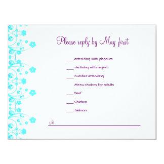 Allison Rachel Reception Card with Menu Choices