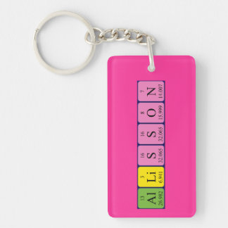 Allisson periodic table name keyring keychain