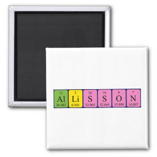 Allisson periodic table name magnet