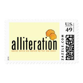 Alliteration Postage Stamp
