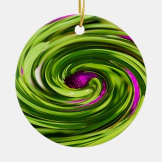 Allium Abstract Ceramic Ornament
