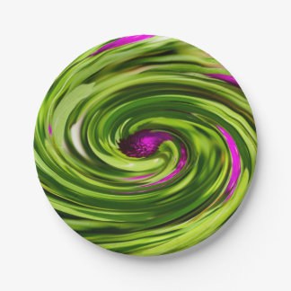 Allium Abstract Paper Plate