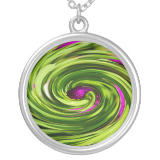 Allium Abstract Silver Plated Necklace