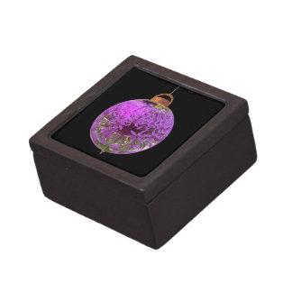 Allium de la púrpura de la chuchería del navidad caja de recuerdo de calidad