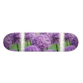 Allium Flowers Skateboard
