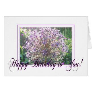 ALLIUM - HAPPY BIRTHDAY GREETING CARD