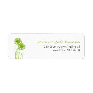 Allium in Grass Personalized Return Address Labels