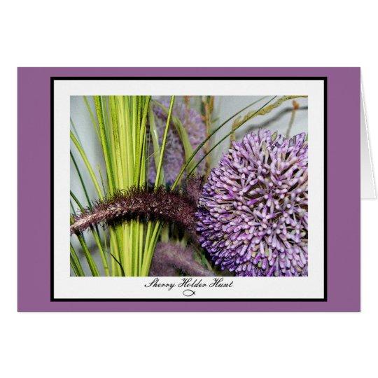 Allium Watercolor Card