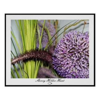 Allium Watercolor Poster