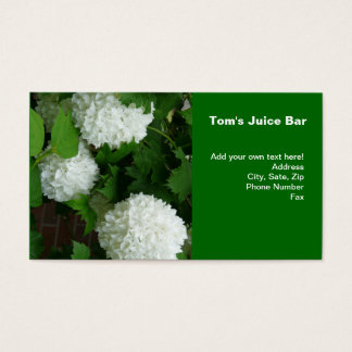 Allium White Round Flowers Business Card