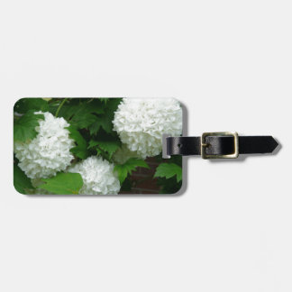 Allium White Round Flowers Luggage Tag
