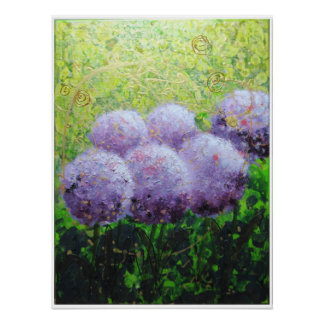 Alliums at Laycock - Bee Lilli  Semi Gloss 18x24 Poster