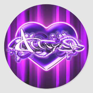 Alliyah Classic Round Sticker