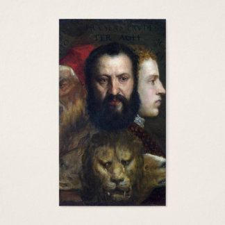 Alllegory of Prudence - Titian (Tiziano) Business Card