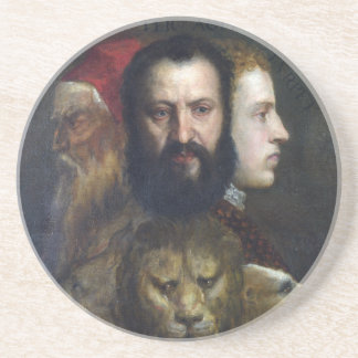 Alllegory of Prudence - Titian (Tiziano) Coasters