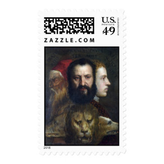 Alllegory of Prudence - Titian (Tiziano) Stamps