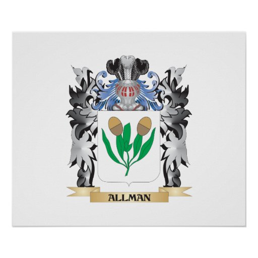 Allman Coat of Arms - Family Crest Poster