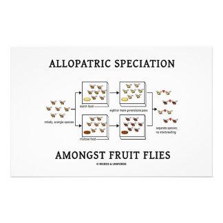 Allopatric Speciation Amongst Fruit Flies Stationery
