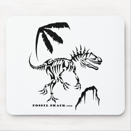 Allosaurus by Fossil Shack Mouse Pad