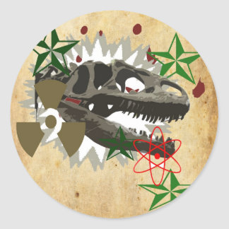 Allosaurus Classic Round Sticker