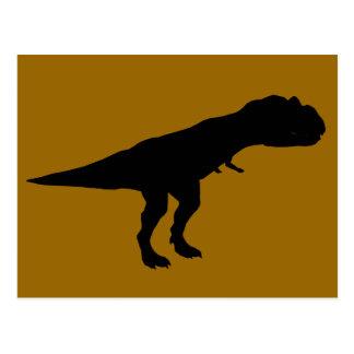 Allosaurus Dino Dinosaur Silhouette Post Card